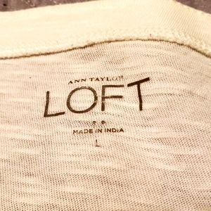 """LOFT Tops - LOFT knit """"love"""" top size L"""